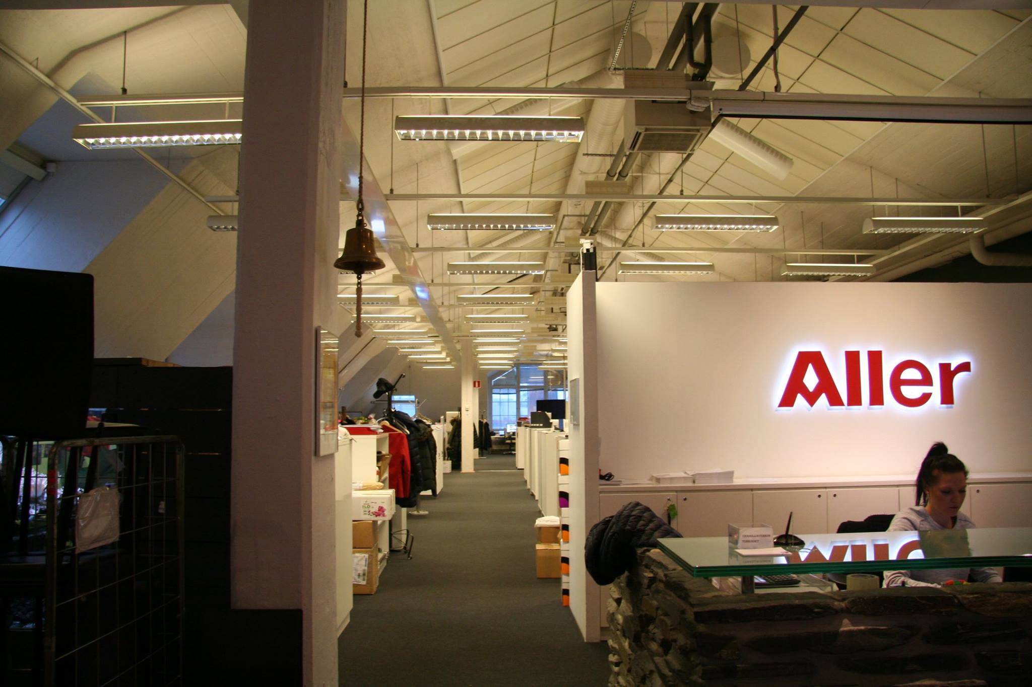 Aller Median kattohuoneiston tilat ovat avarat ja suuret. Kuva: Ossi Kallio.